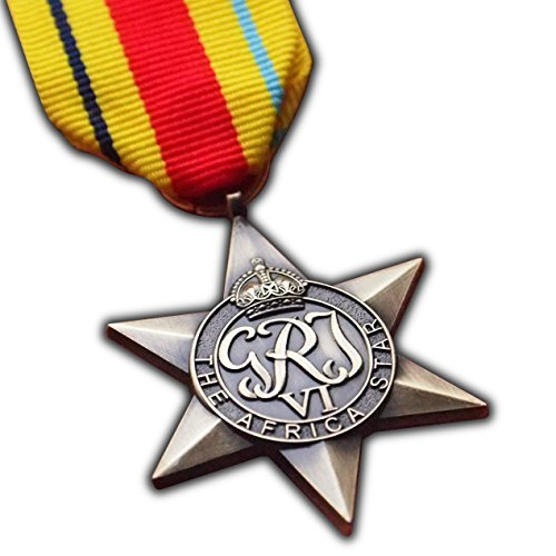 The Africa Star Military Medal WW2 Commonwealth British Military Award For | Army | Navy | RAF | REPLICA George VI