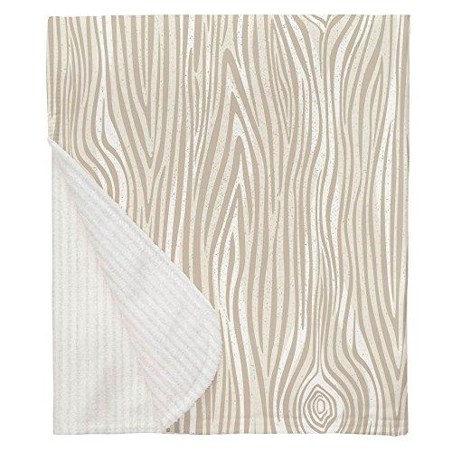 Carousel Designs Taupe Large Woodgrain Crib Blanket by Carousel Designs (Image #4)