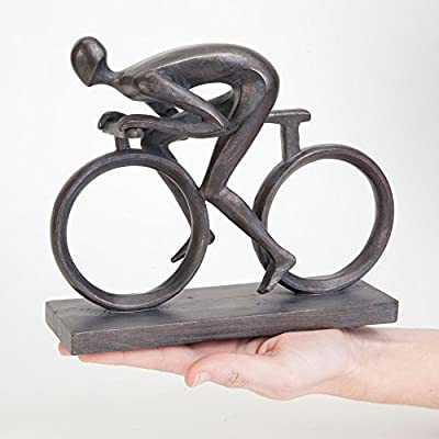 """Bits and Pieces - Elegant 6-3/4"""" Bicycle Statue - Exceptionally Molded in Durable Polyresin - Impressive Home Décor Sculpture"""