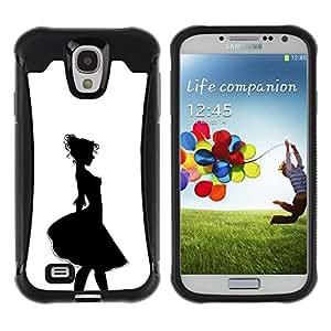 """Hypernova Defender Series TPU protection Cas Case Coque pour Samsung Galaxy S4 IV I9500 [Alivio Chica Contorno Negro Blanco""""]"""