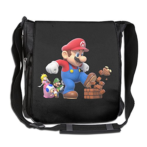 School Janitor Costume (BakeOnion Super Mario Bro Messenger Bag Traveling Briefcase Shoulder Bag For Adult Travel And Business Trip)