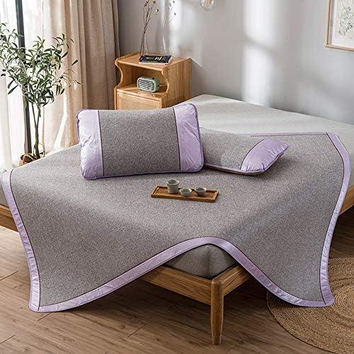WJ 夏用スリーピングマット 炭化竹の睡眠マット、家庭用折り畳み式収納シングル、ダブル肌にやさしいソフトな色の籐マット(12色) /-/ (Color : D, Size : 0.9x1.95m)