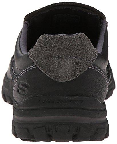 Piel Baja Negro de Skechers Zapatilla Hombre 6Btqq10w