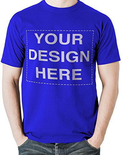 Custom Tshirts Design Your Own Text or Image Adult Unisex T-Shirt (Large, Royal Blue)