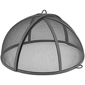 "Good Directions 25"" Spark Screen for Fire Pit and Paver Pit, Hinged, Heavy Duty, Easy access"