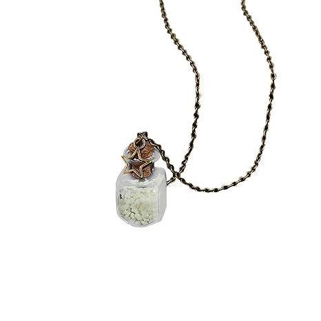 Amazon.com: Collar con colgante para mujer y niña, botella ...