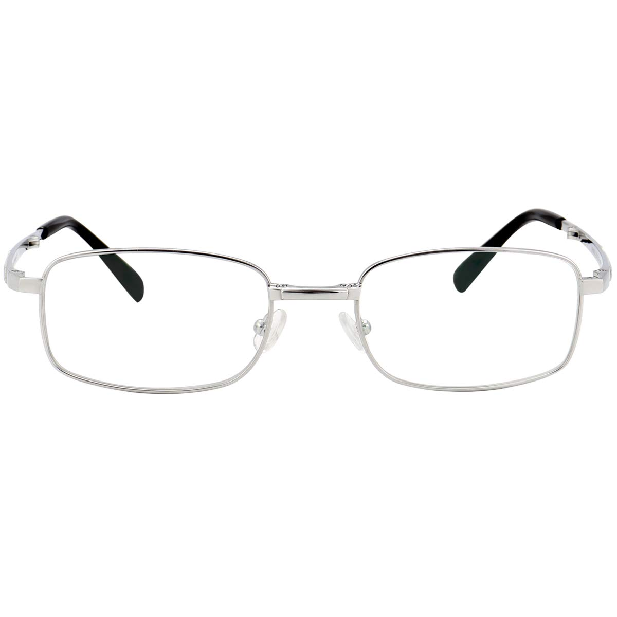Portable Glasses with Case Clear Lens 53mm Agstum Foldable Pure Titanium Glasses Optical Frame for Mens