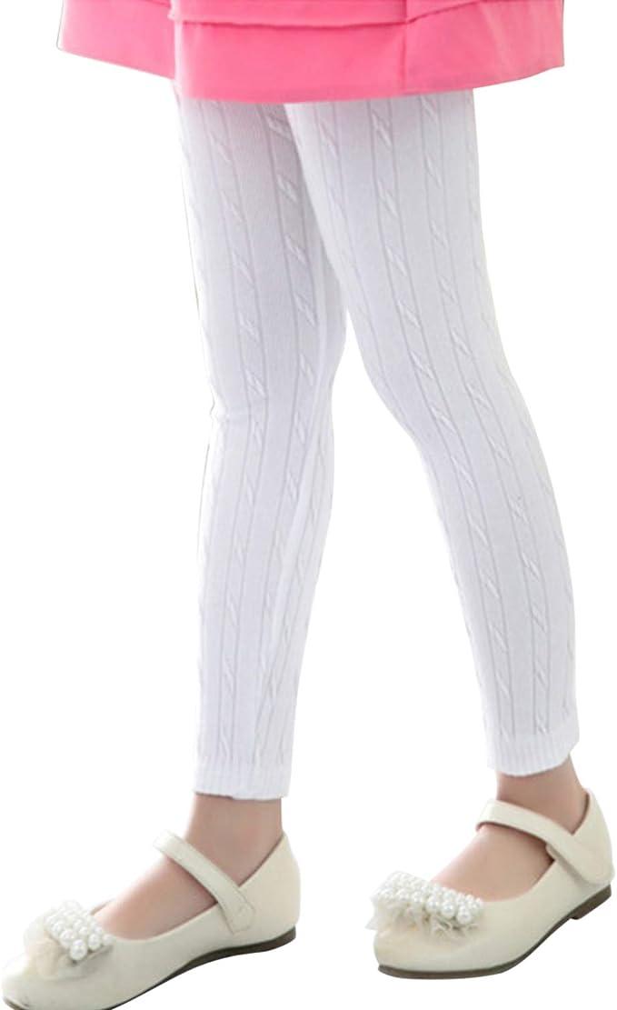 De feuilles Legging Bébé Fille en Coton Pantalon de Sport