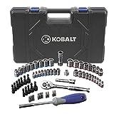 Kobalt 63 (SAE) Standard Piece Mechanic's Tool Set with Hard Case #0573339