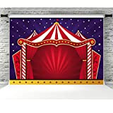 Circus Tent Photo Backdrop 7X5ft Baby Shower Backdrops for Photography Shinning Star Background for Kids Birthday Party Decorations