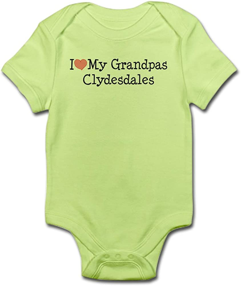 CafePress Cute Infant Bodysuit Baby Romper I Love My Grandpas Clydesdales