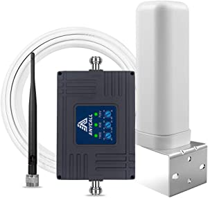 Verizon 3G 4G LTE Cell Phone Signal Booster for Home, Camp - Support Verizon, T-Mobile, AT&T - Boost UMTS Call LTE Data Signal - Band 13/5/2 700/850/1900MHz Verizon Phone Booster Repeater & Antennas