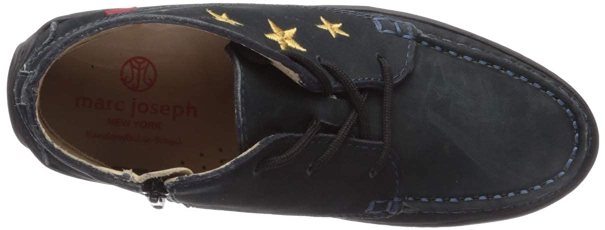 MARC JOSEPH NEW YORK Kids Leather Ankle Boot Embroidered Star Detail Loafer