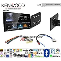 Volunteer Audio Kenwood DMX7704S Double Din Radio Install Kit with Apple CarPlay Android Auto Bluetooth Fits 2007-2011 Nissan Versa