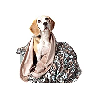 "UTEX Premium Microfiber Pet Blanket, for Small/Medium/Large Dogs, Puppy Kitten Bed, Warm, Soft, Plush (Small (32"" x 24""), Sleeping Dog)"