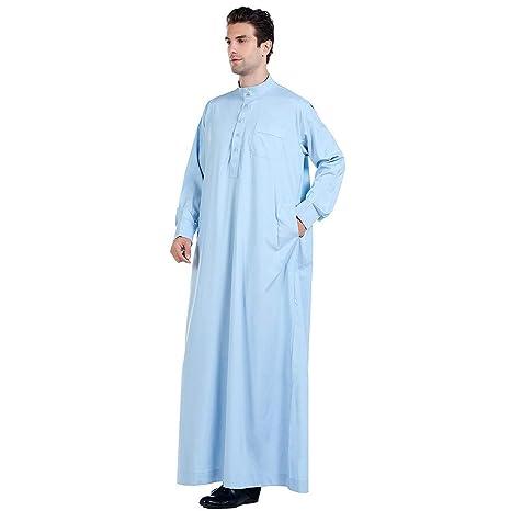 Abbigliamento arabo musulmano con maniche lunghe da uomo kaftano