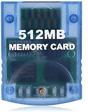 Gamecube Memory Card, VOYEE 512M Memory Card for Nintendo Gamecube & Wii Accessory Kit - Blue