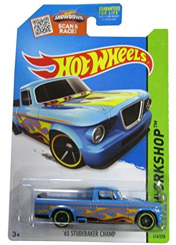 Hot Wheels 2015 HW Workshop '63 Studebaker Champ 214/250, Blue Hot Rod Truck