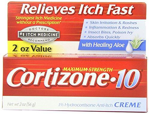 Cortizone-10 Max Strength Cortizone-10 Creme, 2 Ounce (3 Pack) WEBN