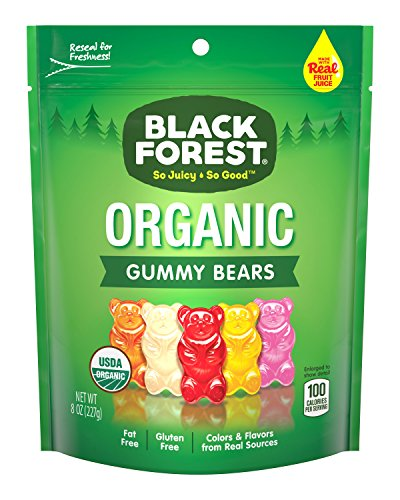 Black Forest Organic Gummy Bears Candy, 8-Ounce Bag (Pack of 6)]()