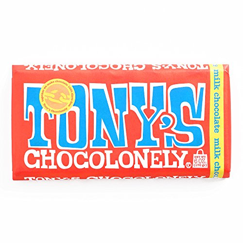Tony's Chocolonely Milk Chocolate Bar 6 oz each (6 Items Per Order, not per ()