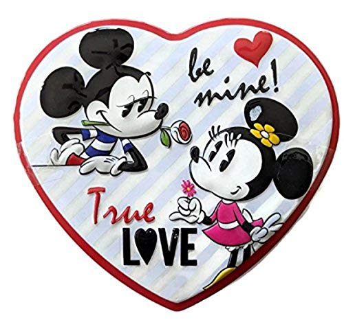 Minnie and Mickey Mouse Valentine's Day Be Mine Heart Tin with Milk Chocolate Candy, 3.6 Ounce