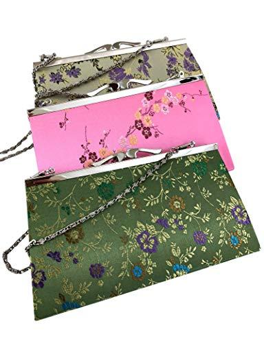 Evening Brocade Bag - Women's Oriental Chinese Silk Brocade Clutch Evening bag handbag (Multi-colors)