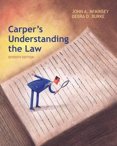 Carper's Understanding The Law