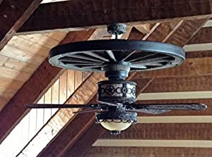 Sheridan Wagon Wheel Ceiling Fan 52 Quot Blades With Silver
