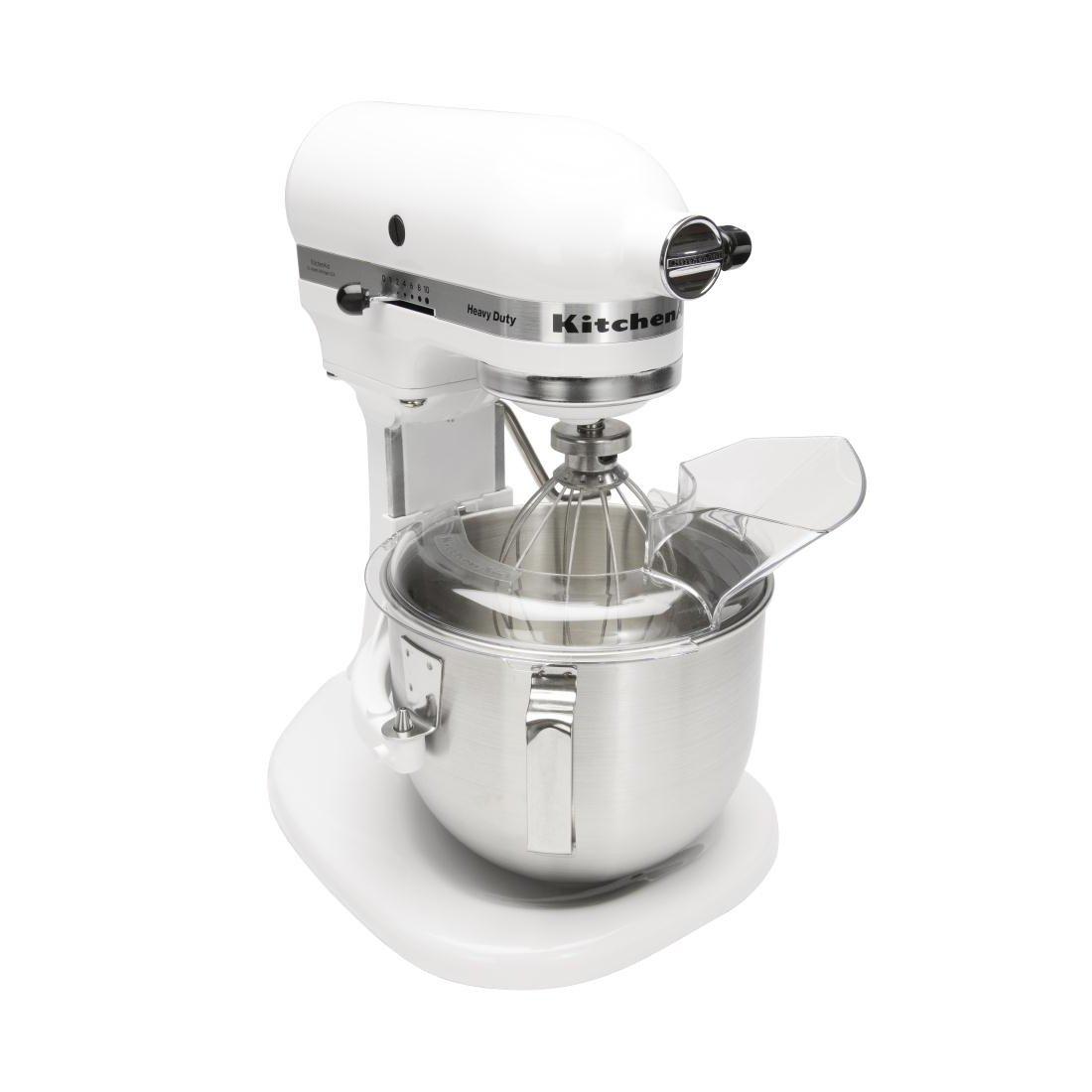 Kitchenaid 5KPM5 - Mezclador de alimentos planetario, 4,8 L, color blanco
