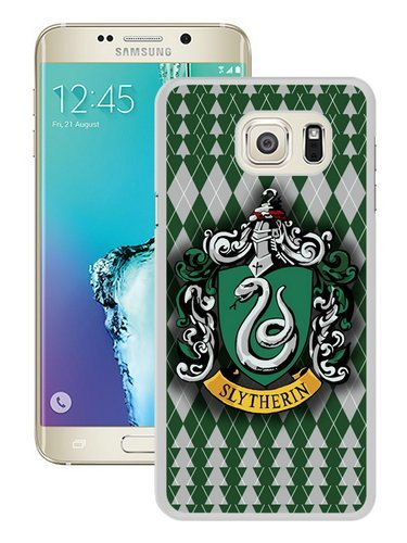 Galaxy S6 Edge+ Case,Slytherin House Snake Green Water Hogwarts Harry Potter White Shell Case for Samsung Galaxy S6 Edge Plus,Fashion Look