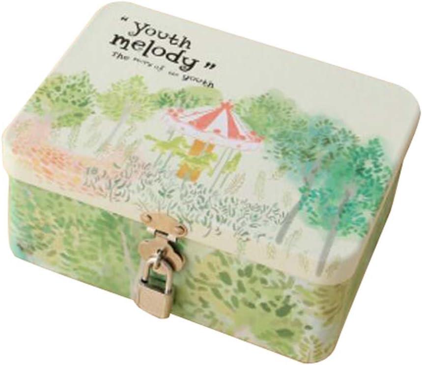 Caja de seguridad linda caja de escritorio cosméticos box-s/caballo de Troya