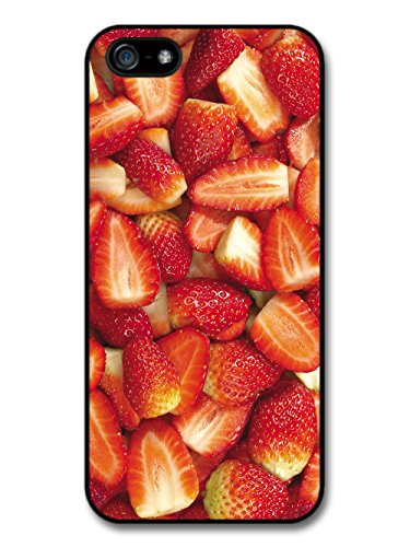 Strawberries Food Fruits Pattern coque pour iPhone 5 5S