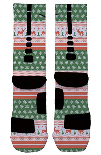 Ugly Christmas Sweater Nike Elite Socks