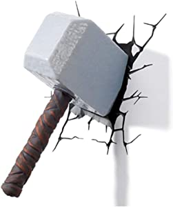 3D Wall Decor Light and Night Lamp for Bedroom Wall w/Thor Hammer Night Light Best for Creative Children's, Adults, Teens
