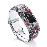 Garmin Vivofit 3 Bands,Lovewe Soft Silicone Replacement Strap Accessory Flower Printing Wristbands For Garmin Vivofit 3 (B)