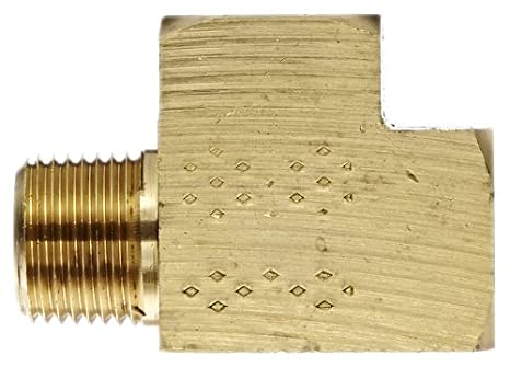 Eaton Weatherhead 3750X6 Brass CA360 Fitting 3//8 NPT Female x 3//8 NPT Male x 3//8 NPT Female Street Tee