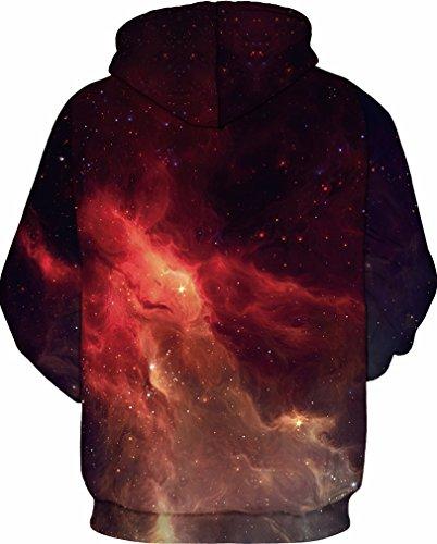 Flamme Hoodie 3d Longues Casual Sweats shirts Homme À Socluer Pull Fantaisie Pochette Sweat Rouge Manches Pullover Capuche Avec qOaCnxRw