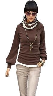 Mississhop Damen Bluse Langarm Tunika Shirt Baumwolle 34 36 38 40 42 S M L XL