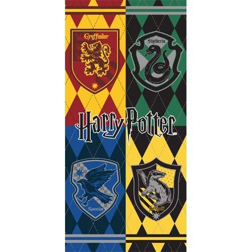 Monogram Harry Potter Hogwarts Houses Crest, 28x58 Beach Towel