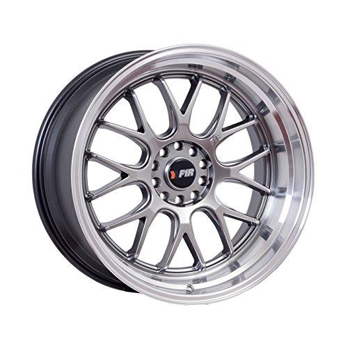 18×8.5 F1R F21 Hyper Black w/ Polish Lip Rim Offset(38) Lug(5×114.3/5×120) Bore(73.1) 1 Wheel — F2118855120HB38