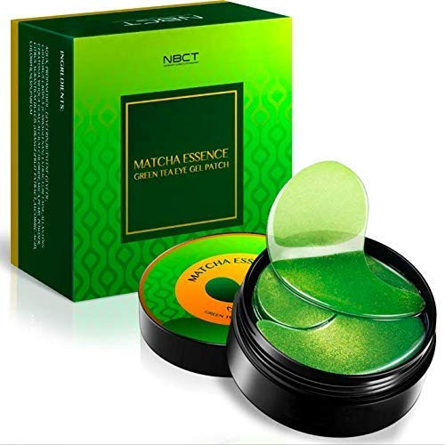 (NBCT Under Eye Patches, Matcha Essence Collagen Anti-Wrinkle Pads, Green Tea Eye Gel Patch - 60 Patches Color Yellow/Orange)