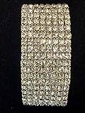 8 Row Silver Rhinestone Crystal Cuff Bracelet Wedding Review and Comparison