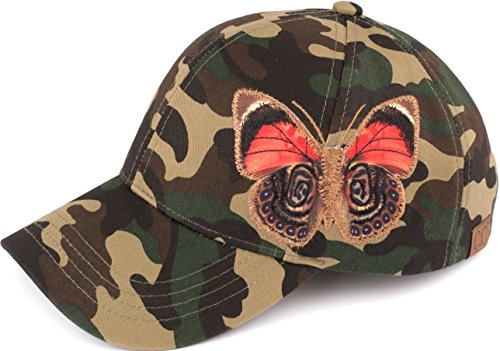 Butterfly Visor - Funky Junque H-40156-100 Camouflage Baseball Cap: Butterfly