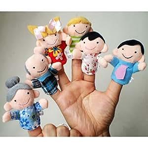GOTD 6Pcs New Soft Family Member Puppet Baby Finger Plush Toys LOVE Warm Gift