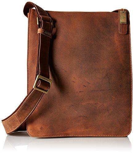Visconti Visconti Big Leather Organizer Messenger Bag In Distressed Leather
