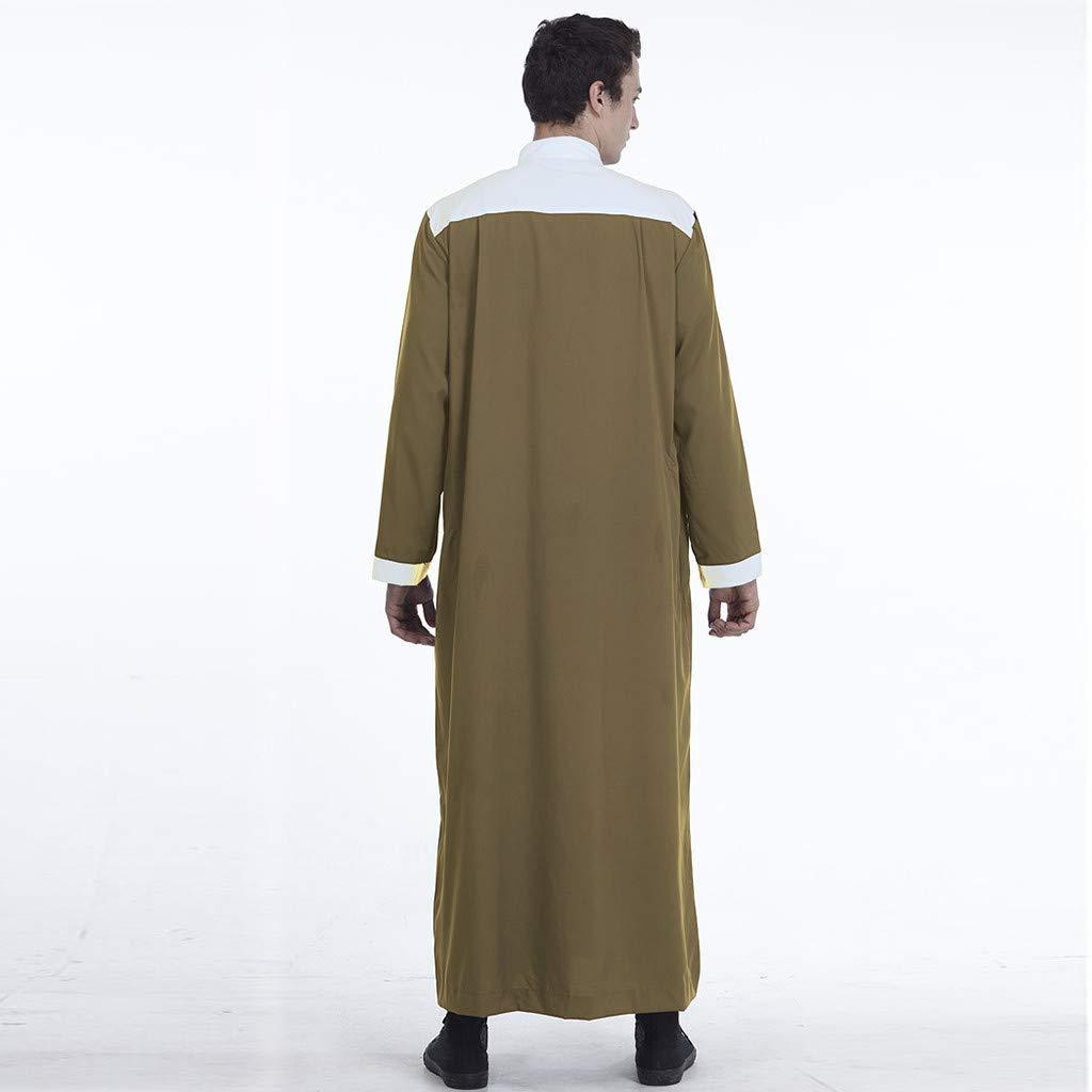 Dumanfs Muslim Islamic Clothing for Men Arabia Plus Size Abaya Dubai Kaftan Jubba Robe