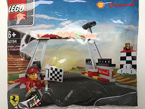 2014 The New Shell V-power Lego Collection Finish Line & Podium Set 40194 Exclusive Sealed ()