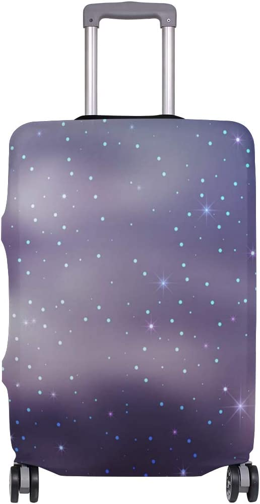 Starry Sky Puple Travel Luggage Protector Case Suitcase Protector For Man/&Woman Fits 18-32 Inch Luggage