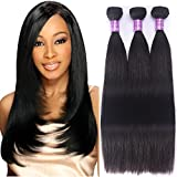 Brazilian Straight Hair 3 Bundles Unprocessed Virgin Hair Human Hair Bundles Natural Black Color 10 10 10 Inch For Sale